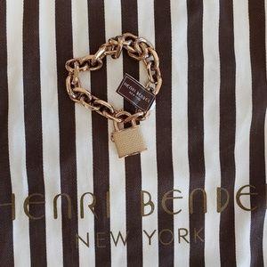 Henri bendel lock bracelet